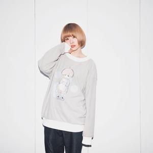 【予約開始】フリースプリント プルオーバー / ねこと少年【12月下旬順次発送】