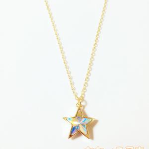 オーロラの星*スワロフスキーのペンダント