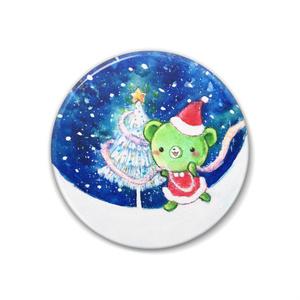 くまみちゃんクリスマス缶バッジ