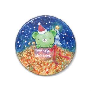 くまみちゃんクリスマス缶バッジ☆