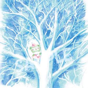 くまみちゃんと冬の木 原画
