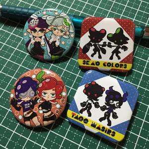 シオカラ・タコワサ缶バッチセット