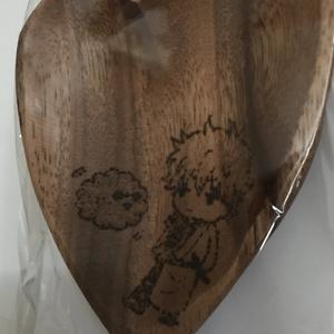 木製ハート形トレイ