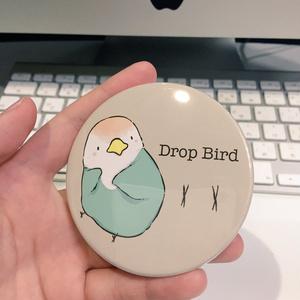 Drop Bird コンパクトミラー(文鳥)