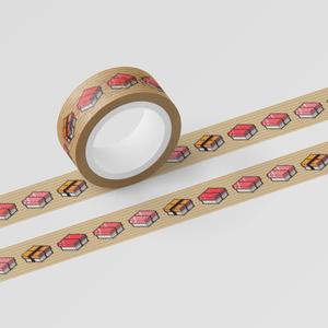 マスキングテープ「SUSHI CUBE [type01] マグロ&玉子(マグロ、中トロ、大トロ、玉子)」