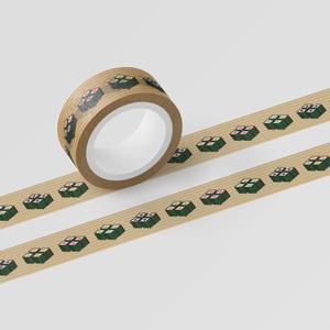マスキングテープ 「SUSHI CUBE [type03] 細巻4種(鉄火、カッパ、かんぴょう、沢庵)」