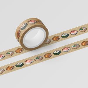 マスキングテープ 「SUSHI CUBE - 助六(太巻き、蒸しエビ、サラダ巻、いなり)」