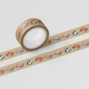 マスキングテープ 「SUSHI CUBE - 握り4種(サーモン、タコ、イカ、サバ)」
