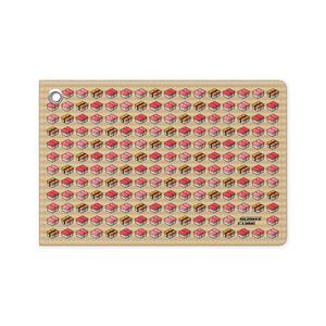 パスケース 「SUSHI CUBE [type 01] マグロ&玉子(マグロ、中トロ、大トロ、玉子)」