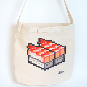 【送料無料】肩かけ、手持ち2WAYバッグ / 蒸しエビ寿司BIG (SUSHI CUBE)