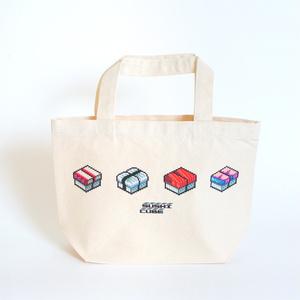 ランチトートバッグ「SUSHI CUBE [type04] / 握り4種」【送料無料】