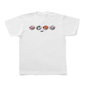 Tシャツ「SUSHI CUBE [type04] / 握り4種」