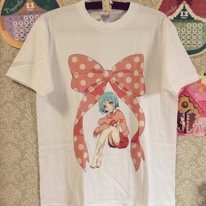 Tシャツ_ピンクと水色(Mサイズ:直筆ポストカード付き)