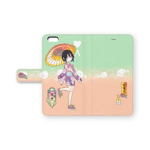 手帳型iPhoneケース「紫陽花」