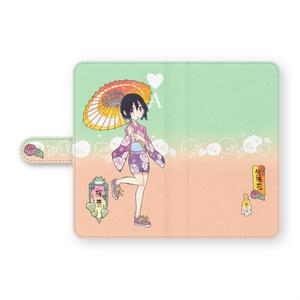 手帳型Androidケース「紫陽花」