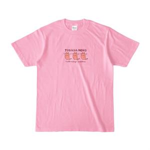 つばさネコ-Tシャツ/ピーチ