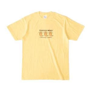 つばさネコ-Tシャツ/ライトイエロー