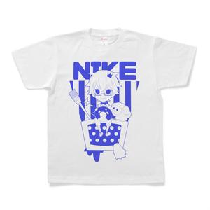 にけ Tシャツ ブルー