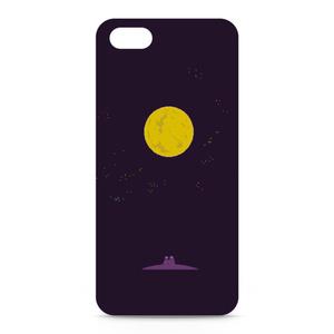 PixelArtiPhone5ケース(側面白地)「月夜」