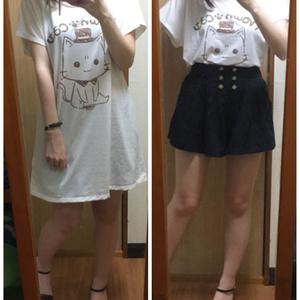 みけんねこTシャツワンピ(レディース)