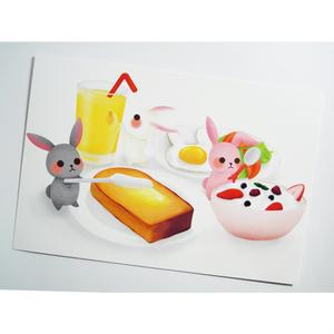 ポストカード07【朝ごはん】