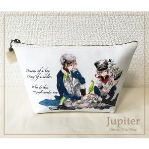 【合皮・三角ポーチ】航海士の日記