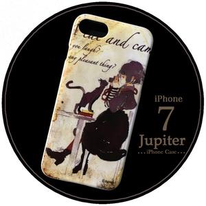 【iPhone7】ハードケース/猫とカメラ
