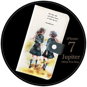 【iPhone7】手帳型ケース/並木道
