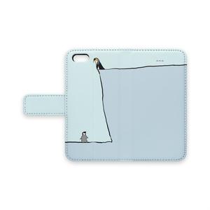 高低ペンギン手帳型iPhoneケース