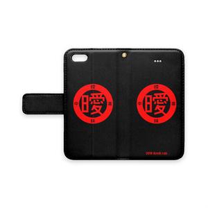 アイポン手帳型 (赤×黒)