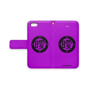 アイポン手帳型 (紫)