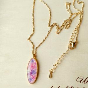 紫陽花のネックレス