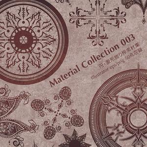 【円・菱型飾り枠素材集】Material Collection 003(パッケージ版)