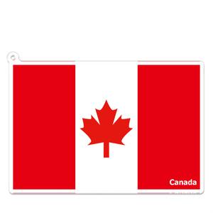 カナダ アクリルキーホルダー