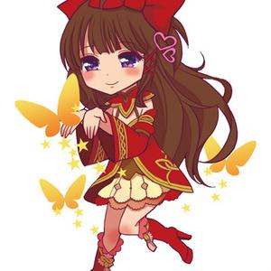 アクリルキーホルダー・森の妖精衣装女の子
