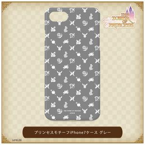 プリンセスモチーフ iPhone7ケース グレー【タワー オブ プリンセス】