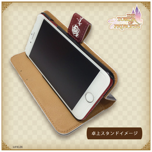 プリンセスモチーフ 手帳型iPhoneケース 改革派 レッド【タワー オブ プリンセス】