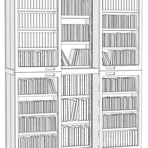 【コミスタ・クリスタ汎用】可動蓋つき本棚
