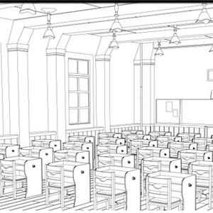 【lwo】教室3D素材
