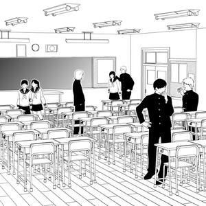 教室3D【コミスタ・クリスタ汎用】