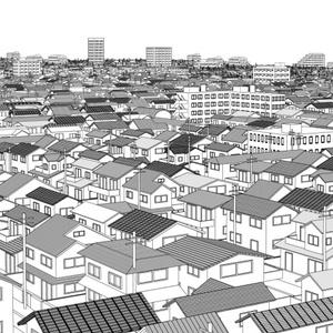 街並み3Dセット【lwo】【コミスタ・クリスタ】