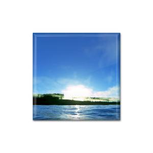 風景の缶バッジ - aqua