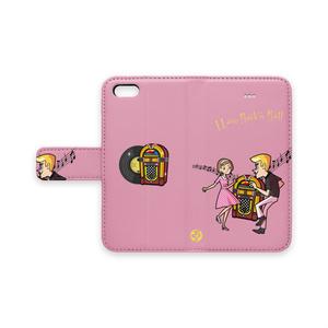 TWIST 手帳型iPhoneケース(ピンク)