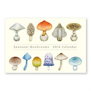 2016年  卓上きのこカレンダー