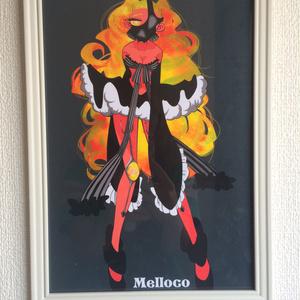 「ヘリオドール」A4/額付き