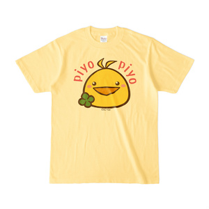 Tシャツ-ヒヨコ(四葉)(黄色)