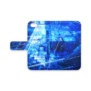 星渡りの夜、硝子の天空散歩〈手帳型iPhoneケース〉