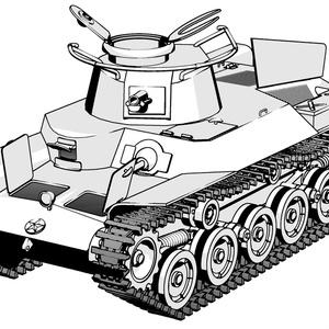 【クリップスタジオ】九七式戦車3Dモデル