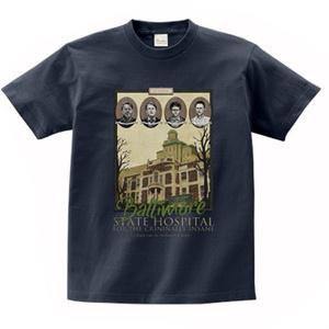 偽・ザ・お土産 Tシャツ サイコパス病院(ネイビー)