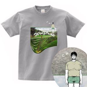 偽・ザ・お土産 Tシャツ ウルフトラップ(杢グレー))